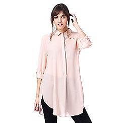 J by Jasper Conran - Pale pink longline shirt