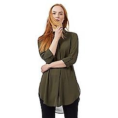 J by Jasper Conran - Khaki longline shirt