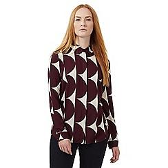 J by Jasper Conran - Dark red semi-circle print blouse