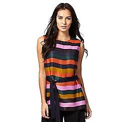 J by Jasper Conran - Multi-coloured striped belted top