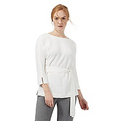 J by Jasper Conran - Ivory belted kimono top