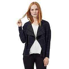J by Jasper Conran - Navy and grey reversible cardigan