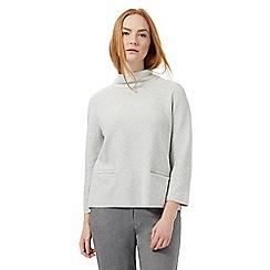 J by Jasper Conran - Light grey pocket jumper