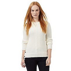 J by Jasper Conran - White ribbed cable jumper