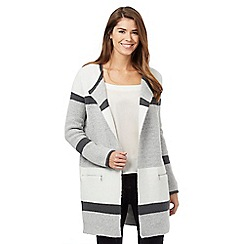J by Jasper Conran - Light grey colour block coatigan