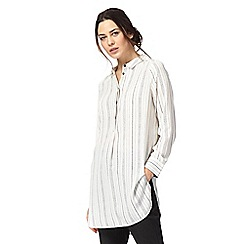J by Jasper Conran - Ivory striped longline shirt