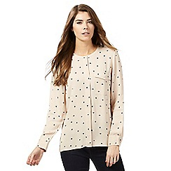 J by Jasper Conran - Light pink polka dot print shirt