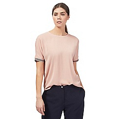 J by Jasper Conran - Pink athleisure ribbed top