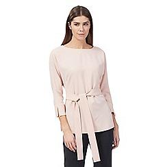 J by Jasper Conran - Pale pink belted kimono top