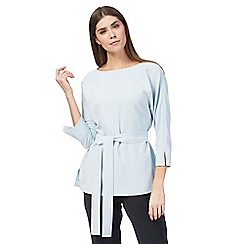 J by Jasper Conran - Pale blue belted kimono top