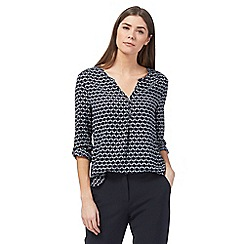 J by Jasper Conran - Navy geometric print blouse