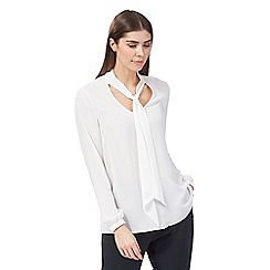 J by Jasper Conran - White tie neck shell top