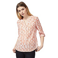 J by Jasper Conran - Orange printed shirt