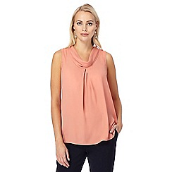 J by Jasper Conran - Peach tie back shirt