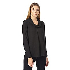J by Jasper Conran - Black roll neck cuff sleeve top