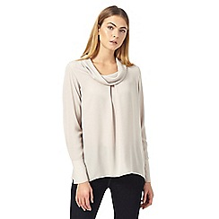 J by Jasper Conran - Cream roll neck cuff sleeve top