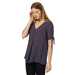 J by Jasper Conran - Navy V-neck blouse
