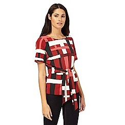 J by Jasper Conran - Red printed top