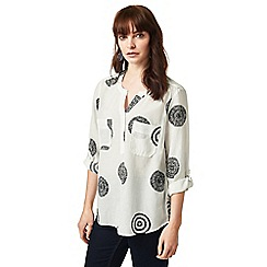J by Jasper Conran - White sushi voile circle shirt