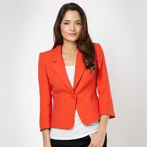 J by Jasper Conran - Designer bright orange jacquard jacket