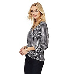 J by Jasper Conran - Navy striped print blouse