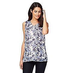 J by Jasper Conran - Pink and blue floral print vest top