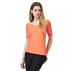 J by Jasper Conran - Coral short sleeve V-neck top