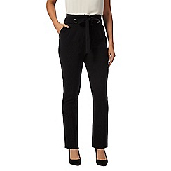 J by Jasper Conran - Black Paper bag waist trousers