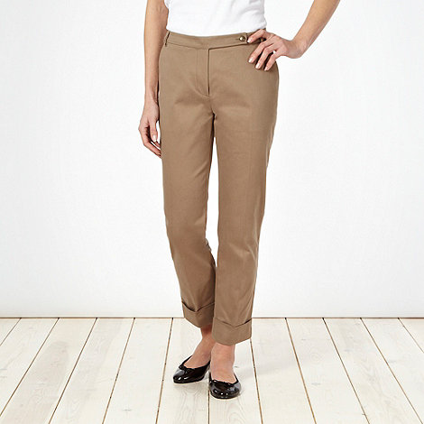 J by Jasper Conran - Khaki turn up chinos