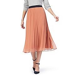 J by Jasper Conran - Coral pleated skirt