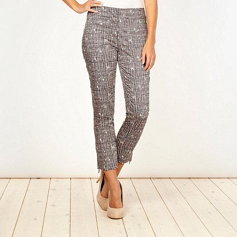 J by Jasper Conran - Designer black checked trousers