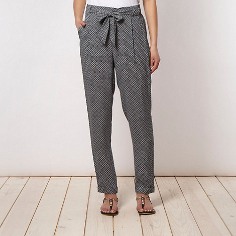 J by Jasper Conran - Designer navy tiled soft trousers