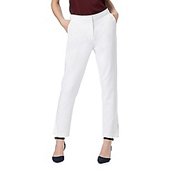 J by Jasper Conran - Ivory slim leg trousers