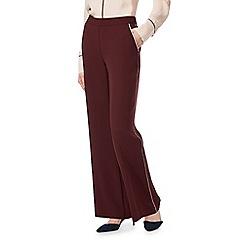 J by Jasper Conran - Dark red wide leg piped trousers