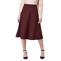 J by Jasper Conran - Plum textured A-line skirt