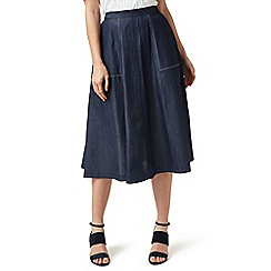J by Jasper Conran - Blue denim pocket detail skirt