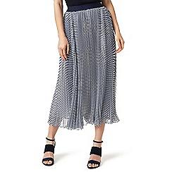J by Jasper Conran - Navy striped pleated skirt