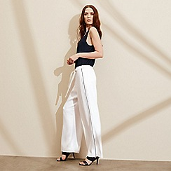 J by Jasper Conran - White wide leg trousers