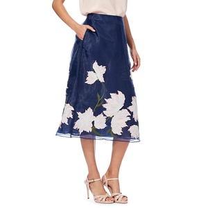 J by Jasper Conran Blue floral embroidered skirt