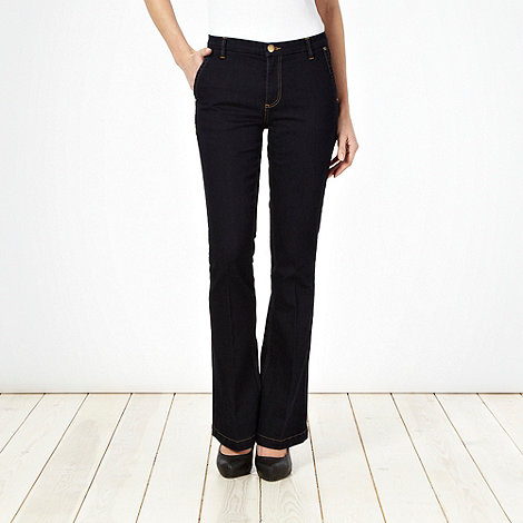 J by Jasper Conran - Dark blue kick flare jeans