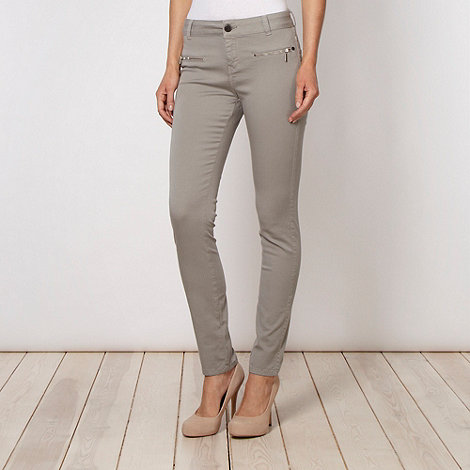 J by Jasper Conran - Designer grey zipped pocketed skinny jeans