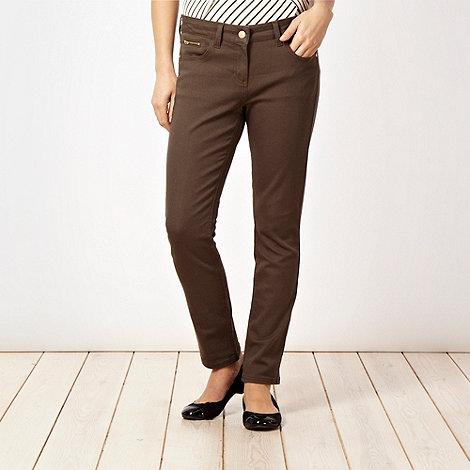 J by Jasper Conran - Khaki skinny jeans