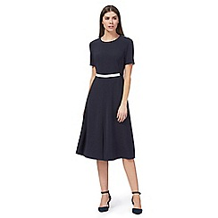 J by Jasper Conran - Blue colour block knee length skater dress