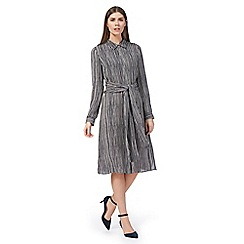 J by Jasper Conran - Navy stripe print shirt dress