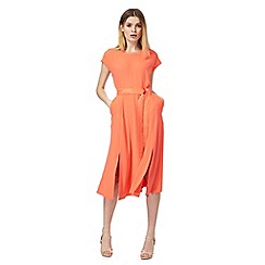 J by Jasper Conran - Coral split front belted dress