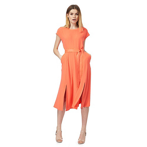 J by Jasper Conran - Coral split front belted dress