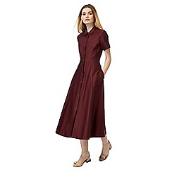 J by Jasper Conran - Dark red full skirt shirt dress