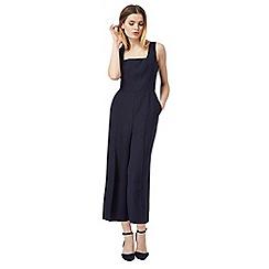 J by Jasper Conran - Navy wide leg culottes jumpsuit