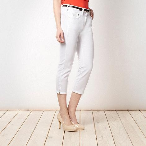 J by Jasper Conran - Designer white cropped skinny jeans