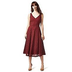 J by Jasper Conran - Dark red Broderie dress
